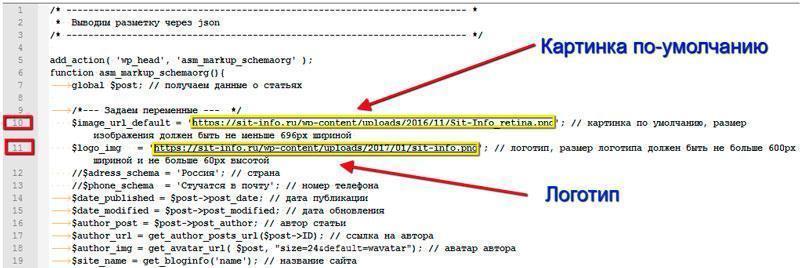 Микро-разметка schema.org json-ld шаблона BeTheme для WordPress