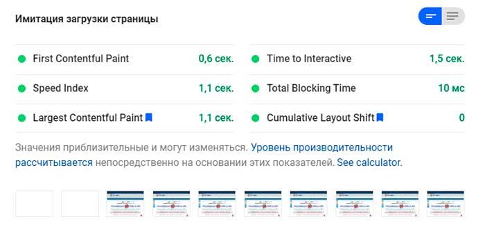 Оптимизация сайта под требования PageSpeed Insights